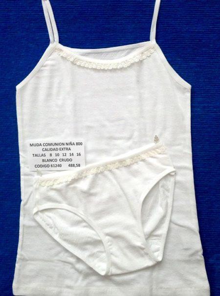 MUDA NIÑA ALGODÓN 800